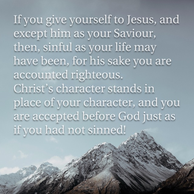 Justified in Christ - just as if you never sinned